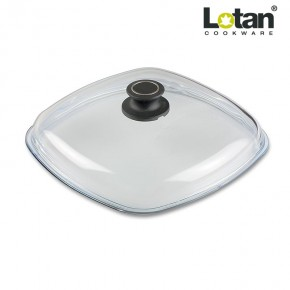 Lotan LOT-E28 stiklinis keturkampis dangtis 28 cm (AMT Gastroguss E28-E-Z1-L2)