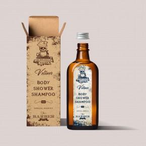The Inglorious Mariner Vetiver dušo gelis/šampūnas, 200 ml