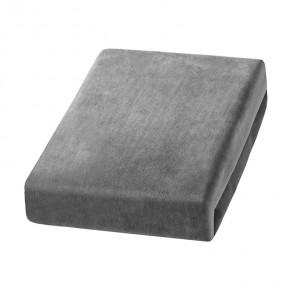 Veliūrinis užvalkalas, pilkas, 70x190 cm