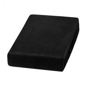 Veliūrinis užvalkalas, juodas, 70x190 cm