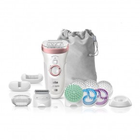Braun SES9990 epiliatorius (Wet and Dry Silk-Epil 9 SensoSmart SkinSpa SES 9990) - Naujas modelis, 13 priedų!