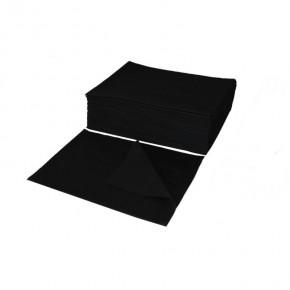 Vienkartiniai rankšluosčiai 50 vnt, 70x40 cm, juodos spalvos