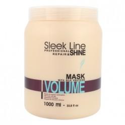 Kaukė plaukams Stapiz Sleek Line Volume, 1000 ml