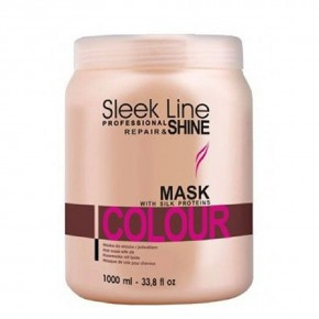 Kaukė plaukams Sleek Line Color, 1000 ml