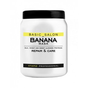Kaukė plaukams Stapiz Basic Salon Banana, 1000 ml
