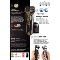 Braun 9250CC barzdaskutė (Wet and Dry Series 9 9250cc 9280cc) su plovimo įrenginiu !