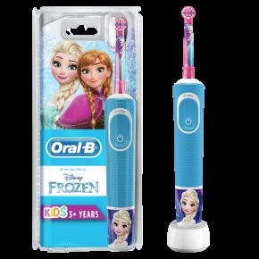 Braun Oral-B Kids Vitality 100 Frozen dantų šepetėlis (Kids D100.413.2K) + Puodukas !
