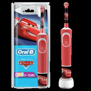 Braun Oral-B Kids Vitality 100 Cars dantų šepetėlis (Kids D100.413.2K) + Dėklas !