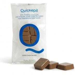 Kietasis vaškas depiliacijai Quickepil šokoladas, 1 kg