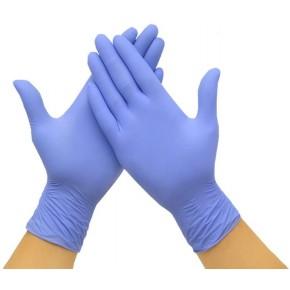 Vienkartinės nitrilinės pirštinės, mėlynos spalvos, M dydis, 100 vnt.