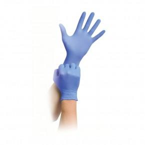 Vienkartinės nitrilinės pirštinės, mėlynos spalvos, tvirtesnės, L dydis, 100 vnt.