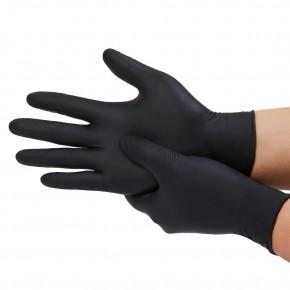 Vienkartinės nitrilinės pirštinės, juodos spalvos, M dydis, 100 vnt.