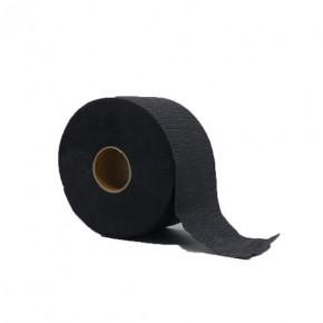 Neaustinės medžiagos audinys depiliacijai rulone, juodas