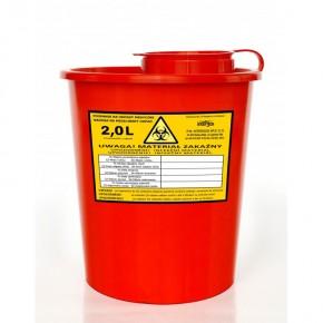 Medicininių atliekų konteineris, 2 L