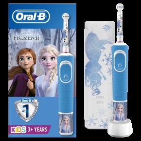 "Dantų šepetėlis ORAL-B vitality 100 kids D100.413.2KX ""Frozen"" + dėklas"