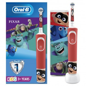"Dantų šepetėlis ORAL-B vitality 100 kids D100.413.4KX ""PIXAR"" + dėklas"