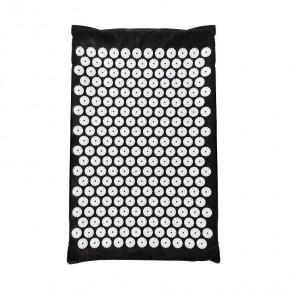 Akupresūrinis taškinis masažo kilimėlis, juodas